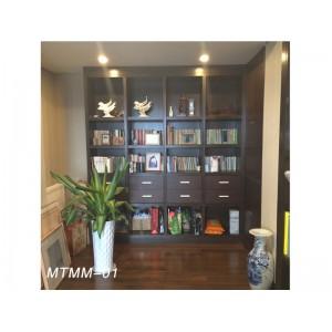 梦天木门 挂壁式书柜 中式书柜