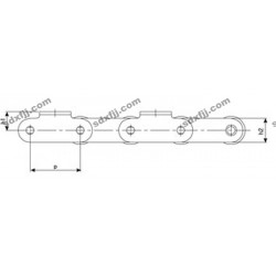 双节距精密滚子输送链 单排滚子链