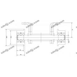 香河万丰双耳板链条(带走轮)WM224 工业链条