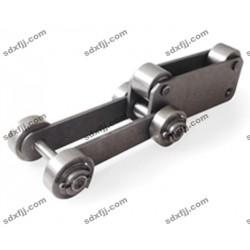 带顶轮输送链条 不锈钢链条 双节距链条