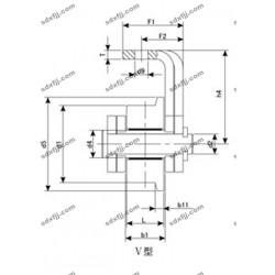香河万丰耳板链条 单侧耳板链条WM160-630