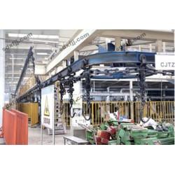 香河万丰积放式悬挂输送机 生产线转弯机