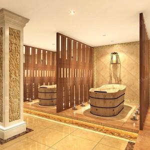 香河海昌假日酒店 洗浴设施 木桶洗浴