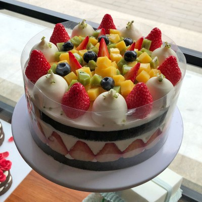 动物淡奶油新鲜水果蛋糕04#
