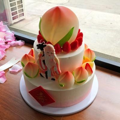 促销创意祝寿生日蛋糕12#