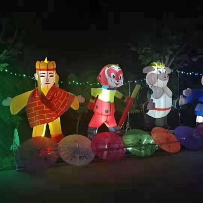 香河杨家寨主题乐园夜景游玩观光